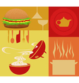 restaurant meal vector image vector image
