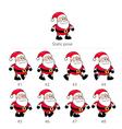 Santa Claus walking frames vector image
