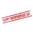 scratched textured happy independence day stamp vector image
