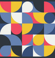 seamless red-yellow-blue abstract geometric print vector image vector image
