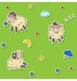 Seamless sheep pattern vector image vector image