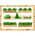 Set of elements for landscape decor vector image vector image