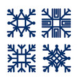 set square snowflake flat icon vector image vector image
