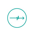 simple pulse with arrow circle logo template vector image vector image
