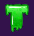 slime font type letter t latin alphabet green