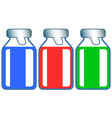 Small glass vials vector image vector image