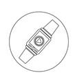 smartwatch wearable icon design vector image