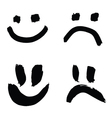 smiles of joy and sorrow vector image vector image