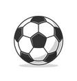 soccer ball icon flat vector image vector image