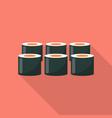 sushi set icon flat style vector image