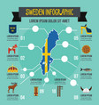 sweden infographic concept flat style vector image vector image