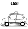 taxi collection vector image vector image
