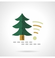 Technology in forest flat color design icon vector image vector image