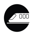 train symbol icon vector image