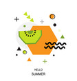 trendy style geometric pattern with kiwi vector image vector image