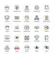 virtual reality flat icons set vector image vector image