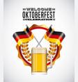 welcome oktoberfest beer festival vector image vector image