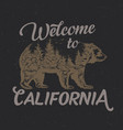welcome to california t-shirt label vector image vector image