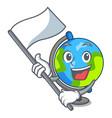 with flag globe mascot cartoon style vector image