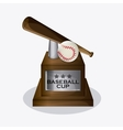 Baseball design sport icon Colorful vector image
