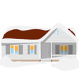 Snow house vector image