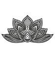 lotus flower tattoo vector image