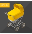 baby carriage isometric vector image