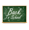 back to school banner design green vector image vector image