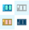 bar refrigerator icon set in flat and line styles vector image vector image