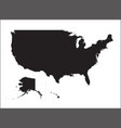 black silhouette map united states america vector image vector image