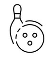 bowling target icon outline style vector image vector image