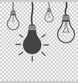 bulb idea flat vector image