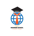 business school logo vector image vector image