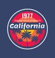 california 1977 - concept vector image vector image