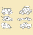 cars images stylized for kids vector image vector image