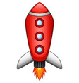 cartoon rocket spaceship isolated on white