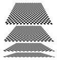checkered planes in different angles vector image