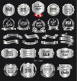 collection silver badges and labels retro vector image