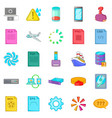 computing icons set cartoon style vector image