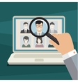 Concept of searching for professional stuff vector image vector image
