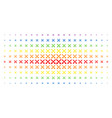 crossing swords spectrum halftone pattern vector image vector image