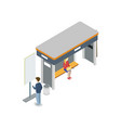 downtown transport stop isometric 3d icon vector image vector image
