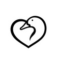 duck love sign vector image vector image