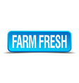 farm fresh blue 3d realistic square isolated vector image vector image