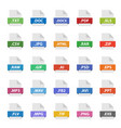 file format flat icon set document signs vector image vector image