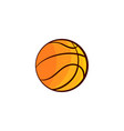 flat sketch basketball ball isolated vector image