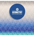 Geometry blue background design vector image vector image
