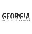 georgia usa united states of america text or vector image vector image