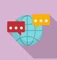 global sms chat icon flat style vector image