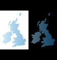 great britain and ireland map hexagon mosaic vector image